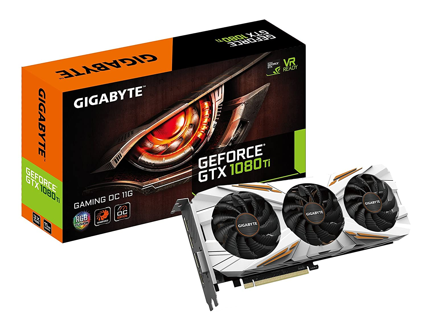 Gigabyte GeForce GTX 1080 Ti Gaming OC 11GB Graphic Cards N108TGAMINGOC-11GD (Renewed)