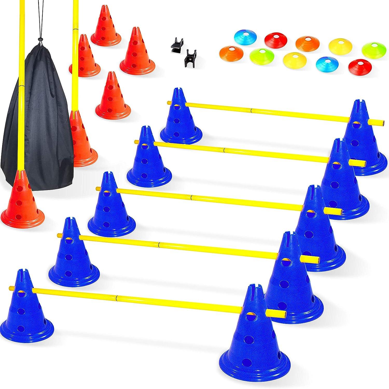 vallas de entrenamiento con conos