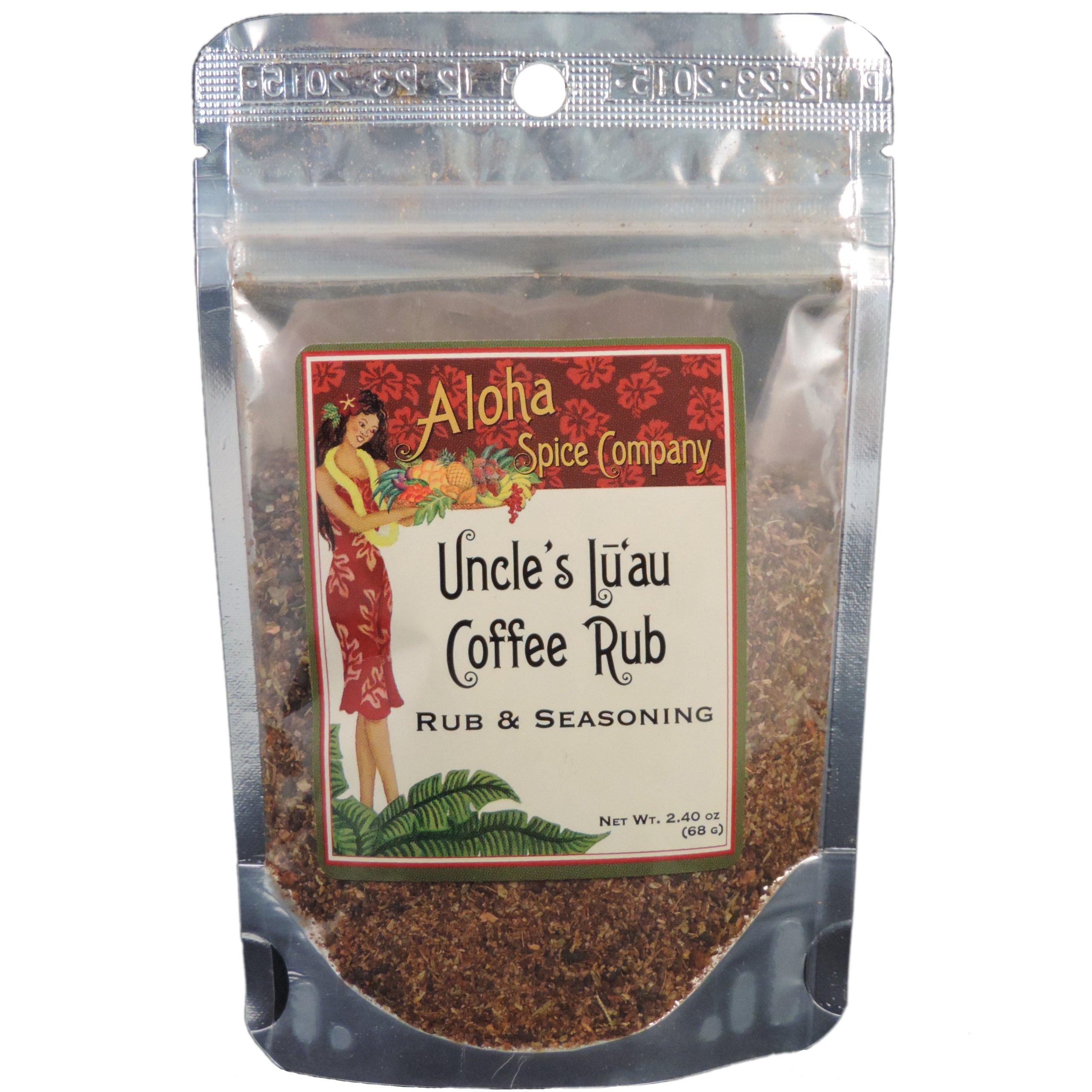 Uncle's Luau Coffee Rub & Seasoning (4 Pack)