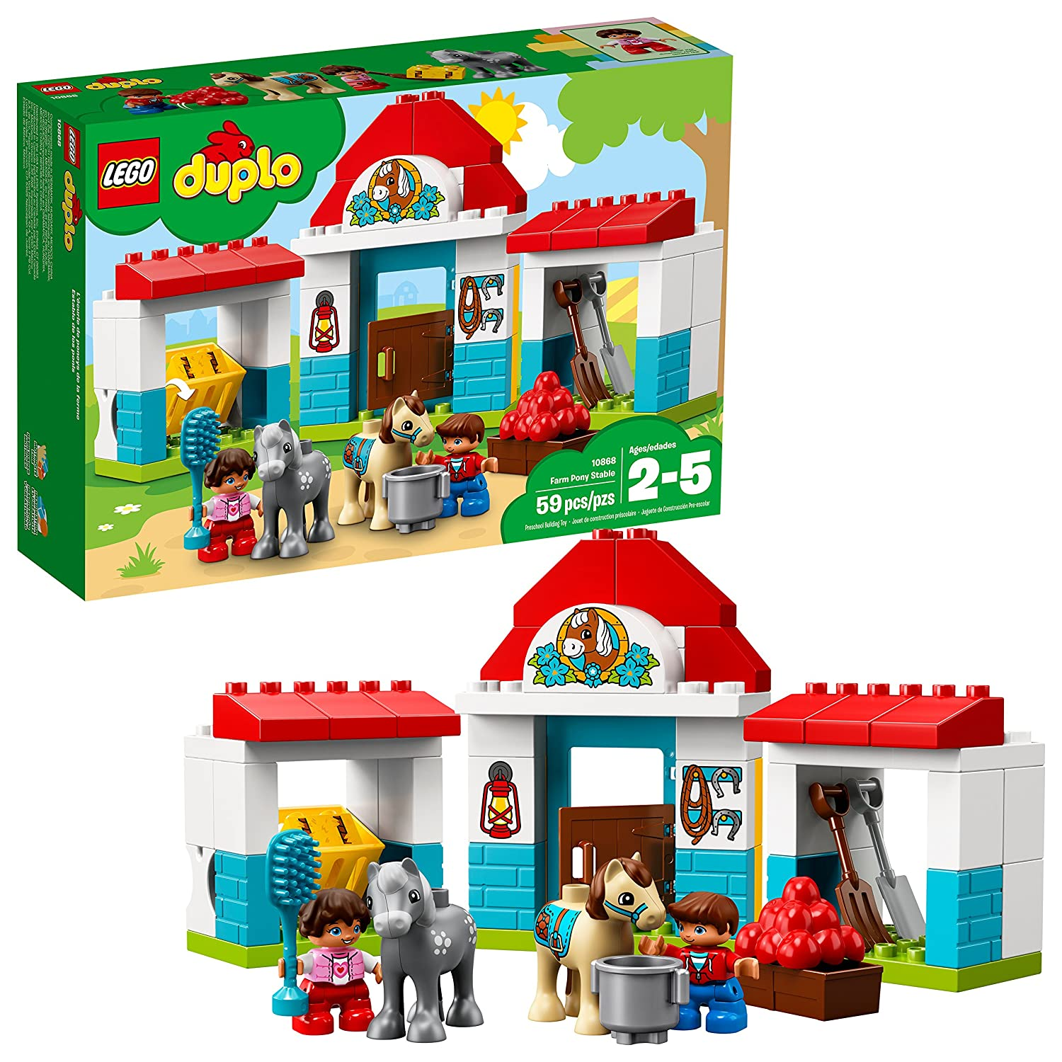 LEGO Duplo Town 6213739 Farm Pony Stable 10868 Building Kit (59 Piece)