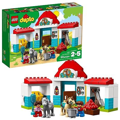 12e9ce1aa0acb Amazon.com: LEGO DUPLO Town Farm Pony Stable 10868 Building Blocks (59  Piece): Toys & Games