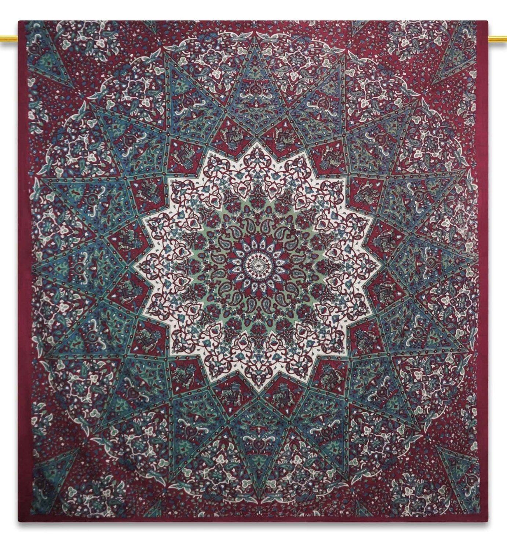 Handicrunch mandala indiano arazzo coperta da picnic hippie Bohemian Full size arazzi 233, 7x 208, 3cm TWT7521