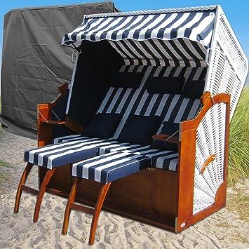 Strandkorb XXXL # 2,5 Sitzer XXXL Strandkorb Breit # Ostsee Strandkorb # 2x