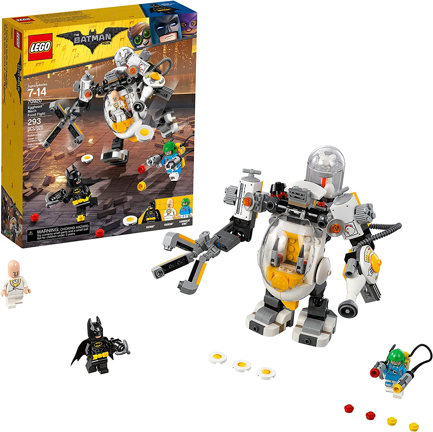 LEGO BATMAN MOVIE DC Egghead Mech Food Fight 70920 Building Kit (293 Piece)
