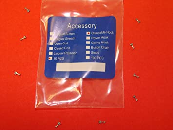 Amazon.com : Dental Crimpable Hook Orthodontic Pack /10 Angelus : Other Products : Beauty