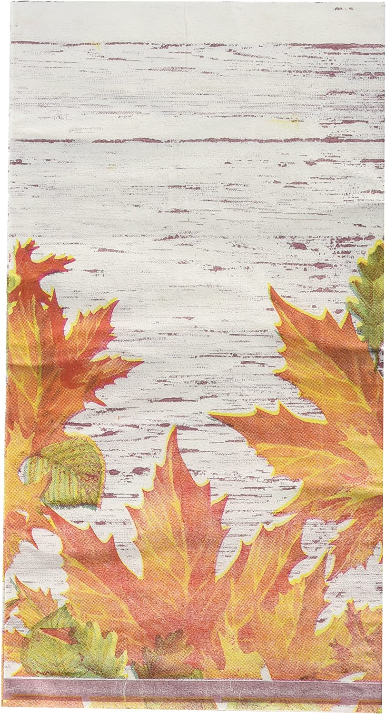 Bulk Buy: Thanksgiving Autumn Leaves Paper Guest Towels / Dinner Napkins. Pack of (6).