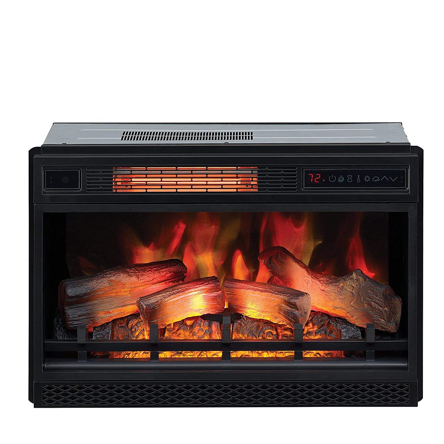 Stupendous Classicflame 26 3D Infrared Quartz Electric Fireplace Insert Plug And Safer Sensor Black Beutiful Home Inspiration Ommitmahrainfo