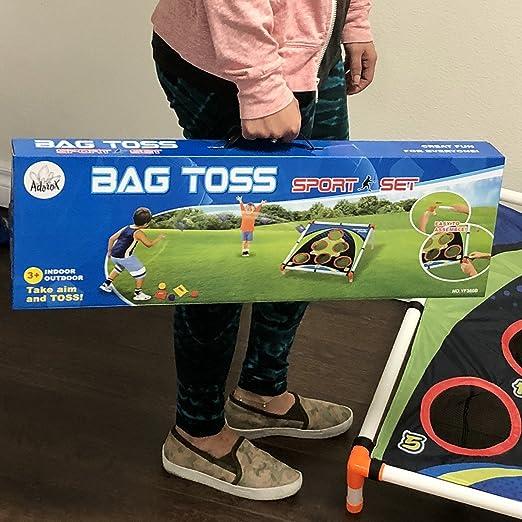 Amazon.com: Adorox Bean Bag Toss Game Set Sporty Bean Bag Corn Hole Outdoor Indoor Game Set: Toys & Games