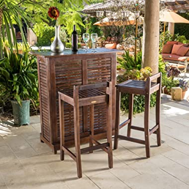 Christopher Knight Home Riviera 3-piece Outdoor Wood Bar Set