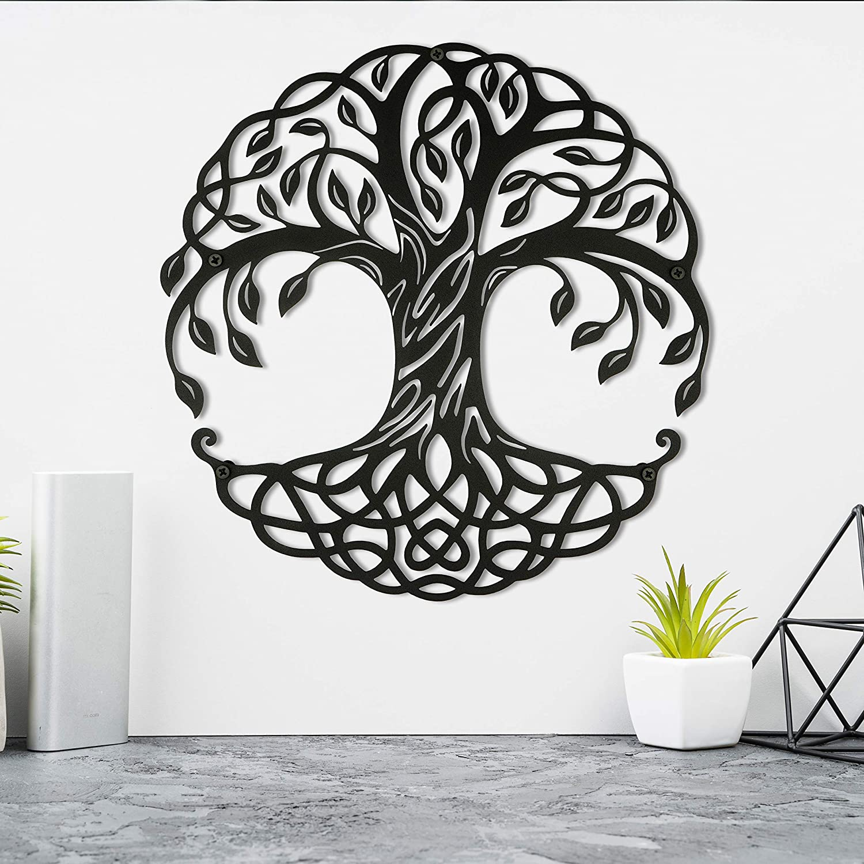 Seem Metal Wall Art, Tree of Life Metal Wall Decor, 24