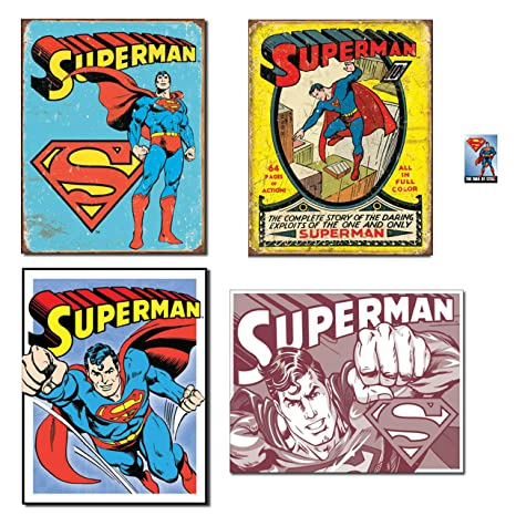 Amazon.com: Bundle: Metal Superman signos – Superman ...