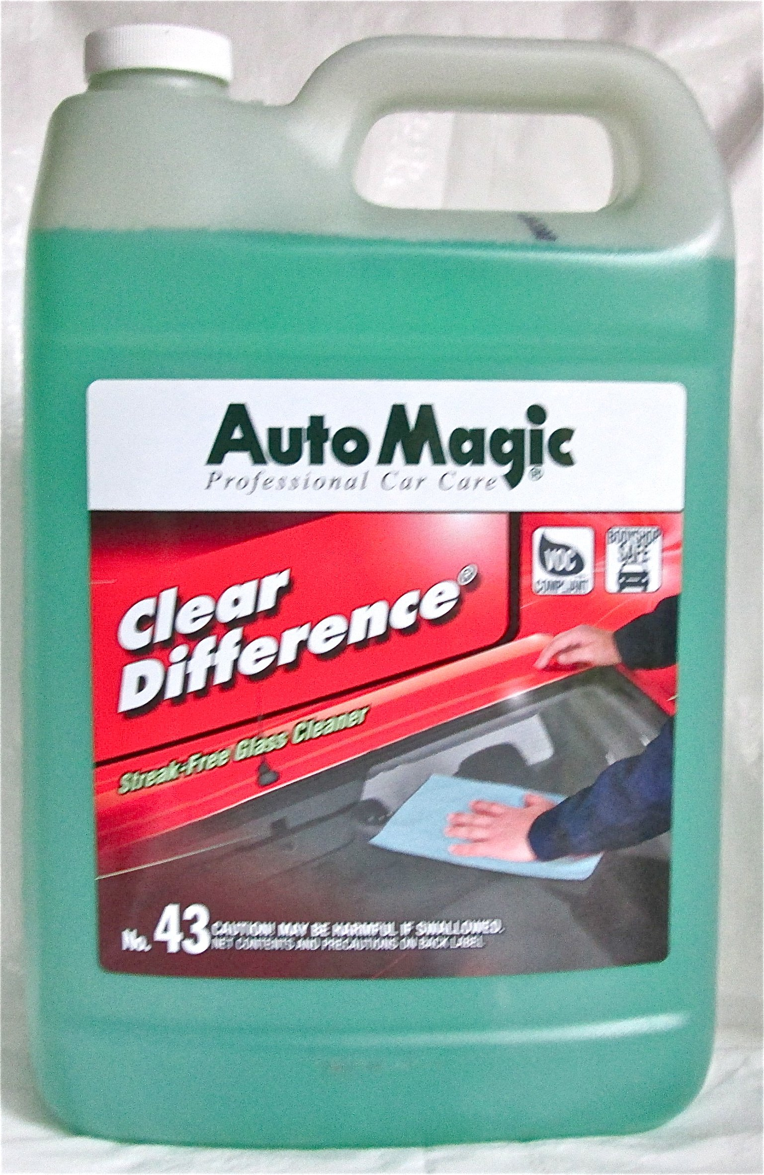Auto Magic Clear Difference Glass Cleaner, Ready-to-use, 1 Gal