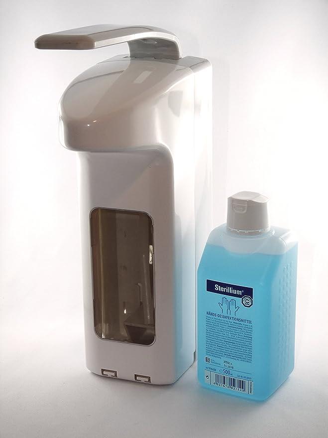 500 ml dispensador de/Euro pared con bandeja de goteo se adapta todos Euro para colectividades (Incluye 500 ml sterillium): Amazon.es: Salud y cuidado ...