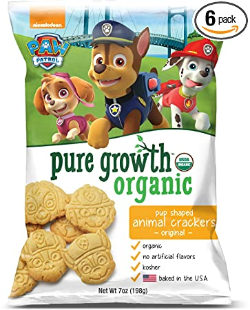 Amazon pure growth organic paw patrol animal crackers pure growth organic paw patrol animal crackers original 7 ounce pack of 6 solutioingenieria Choice Image