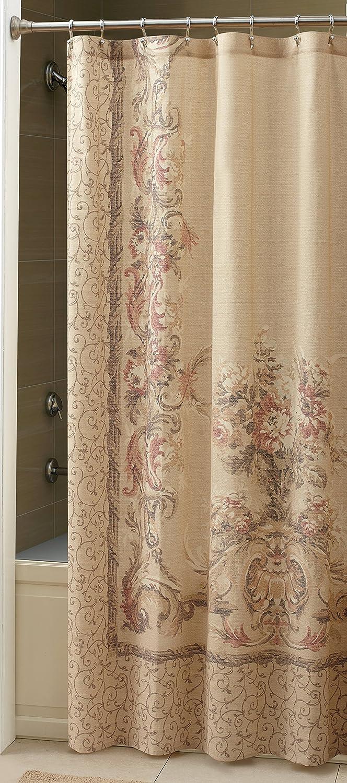 Natural shower curtain - Amazon Com Croscill Normandy Shower Curtain 70 Inch By 72 Inch Natural Home Kitchen
