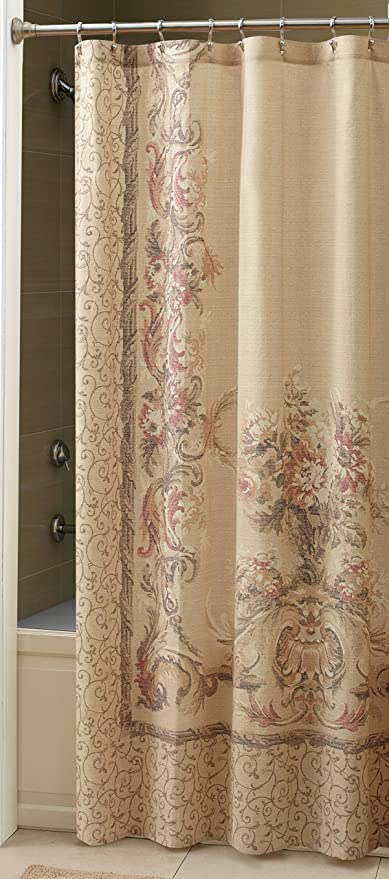 Croscill Normandy Shower Curtain 70 Inch By 72 Natural