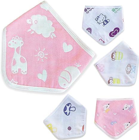 💚Baberos Nätura 100% Algodón para bebes, a bandana, Niño/ Niña, 5 ...