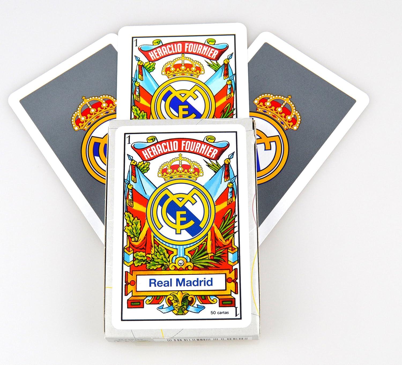 Fournier 174917 - Baraja/Naipes Real Madrid 50 Cartas: Amazon.es: Juguetes y juegos