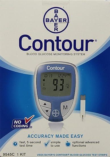Amazon.com: Bayer Contour Blood Glucose Monitoring System - Model ...