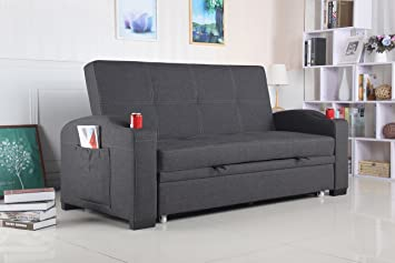 Merveilleux Best Quality Furniture Dark Gray Woven Fabric Sofa Bed