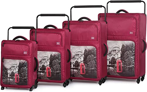 it luggage World s Lightest-St Pauls Cathedral 4-Wheel 4-Piece Set, Red