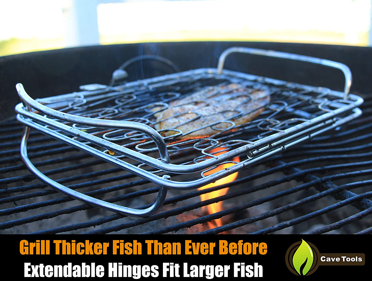 Amazon.com : Fish Grill Basket SM - PERFECT FOR LARGE THICK FISHES ...