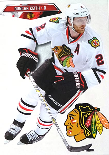 Amazon.com  Duncan Keith Mini FATHEAD + Chicago Blackhawks Logo NHL ... a29b562f2