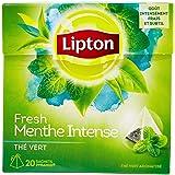 Lipton Thé Vert Menthe Intense 20 Sachets 32g - Lot de 3