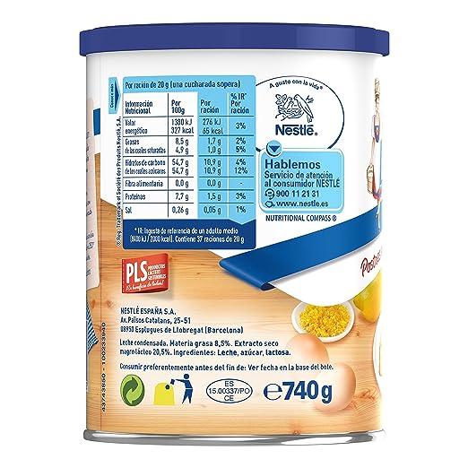 NESTLÉ LA LECHERA - Leche condensada entera - Lata de leche condensada entera abre fácil 740g: Amazon.es: Alimentación y bebidas