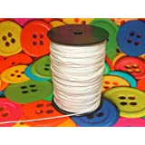 100 Metre Roll 1.2mm White Roman Blind Cord - Curtain Fabric Making Supplies by Pandoras Upholstery