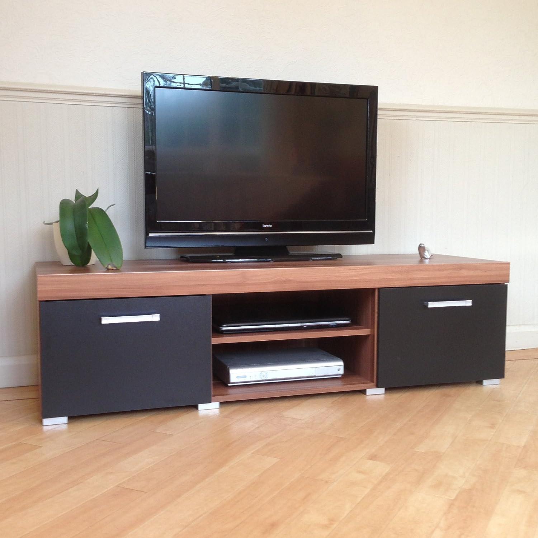 display units for living room sydney. black \u0026 walnut sydney large sideboard tv cabinet 140cm unit living room furniture set: amazon.co.uk: kitchen home display units for e