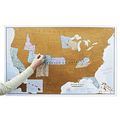 Usa Scratch Map Amazon.: Maps International Scratch Off Map Of The US   USA  Usa Scratch Map
