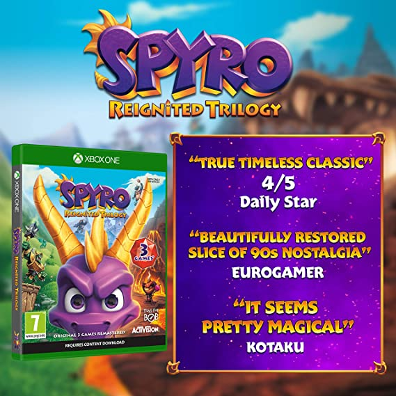 Spyro Trilogy Reignited - Xbox One [Importación inglesa]: Amazon ...