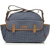 Babymel Molly Satchel Diaper Bag, Pixel Dot Navy