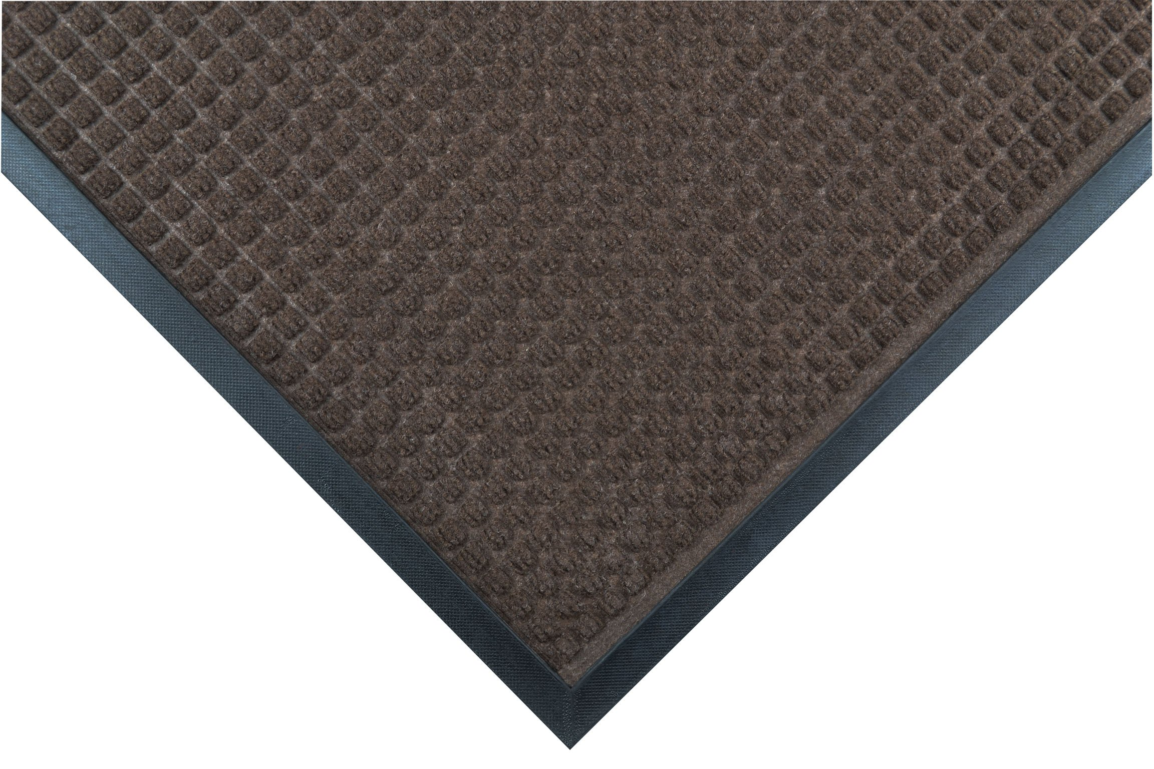 Notrax 166 Guzzler Entrance Mat, for Lobbies and Entranceways, 2' Width x 3' Length x 1/4'' Thickness, Brown