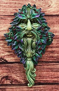 "Ebros Nature Spirit God Celtic Winter Solstice Greenman Hanging Wall Decor Plaque 12.75"" High Wiccan Tree of Life Forest Shepherd Horned God Cernunnos Ent Mythical Fantasy Decorative Sculpture"