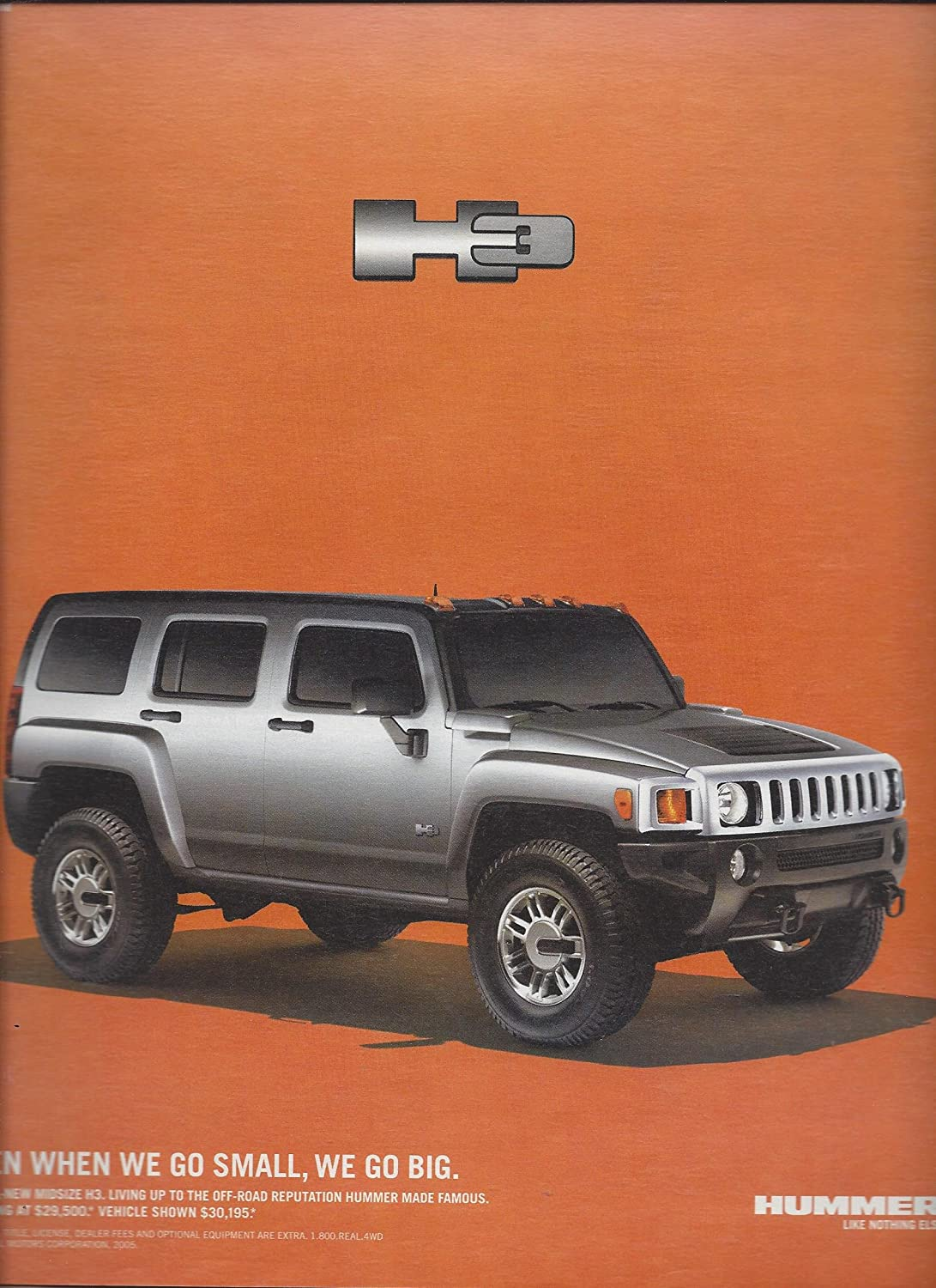 MAGAZINE AD For 14 Silver Hummer H14 Even When We Go Small ... | hummer small