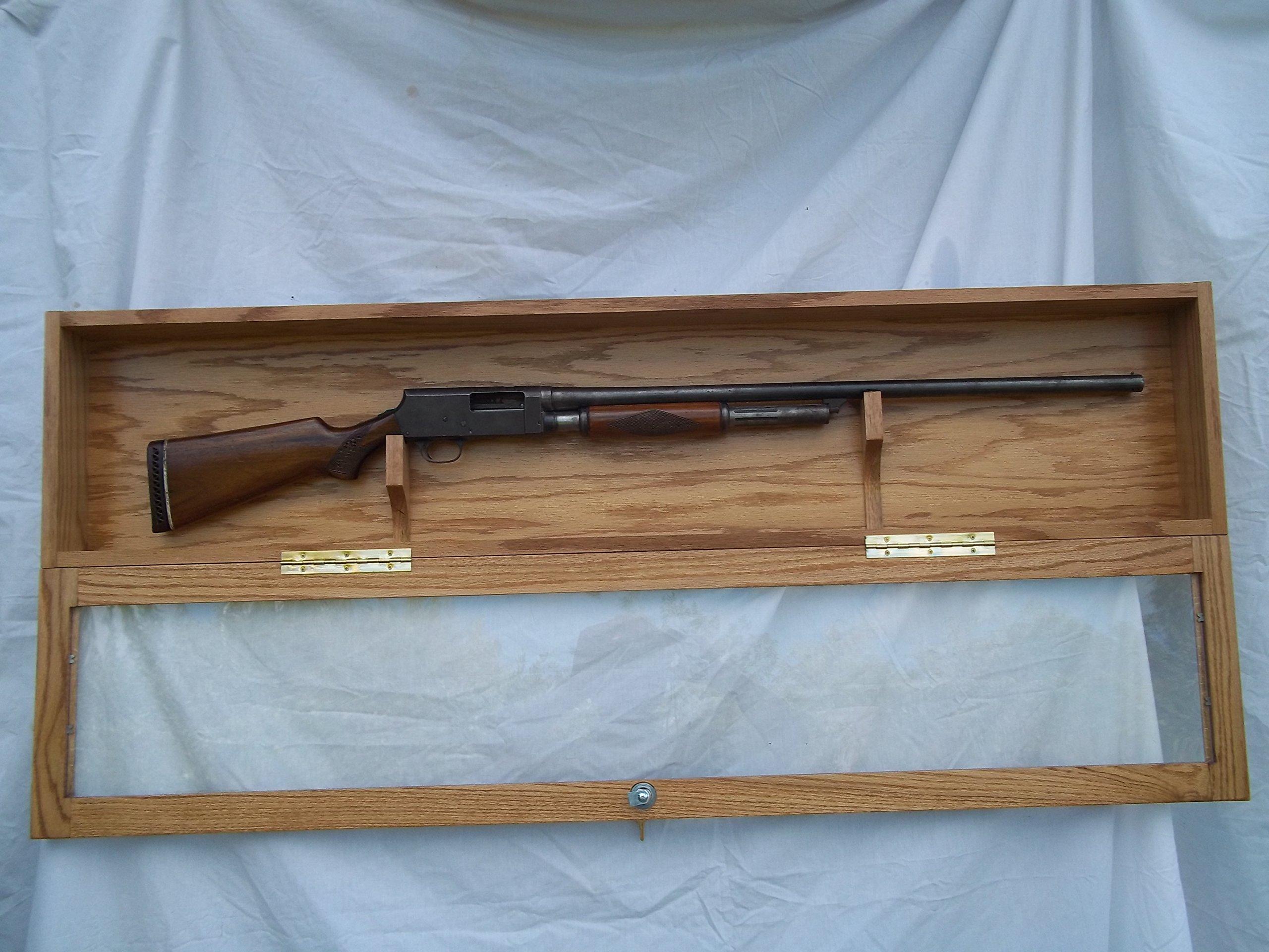 Single Gun Locking Wall Display Case