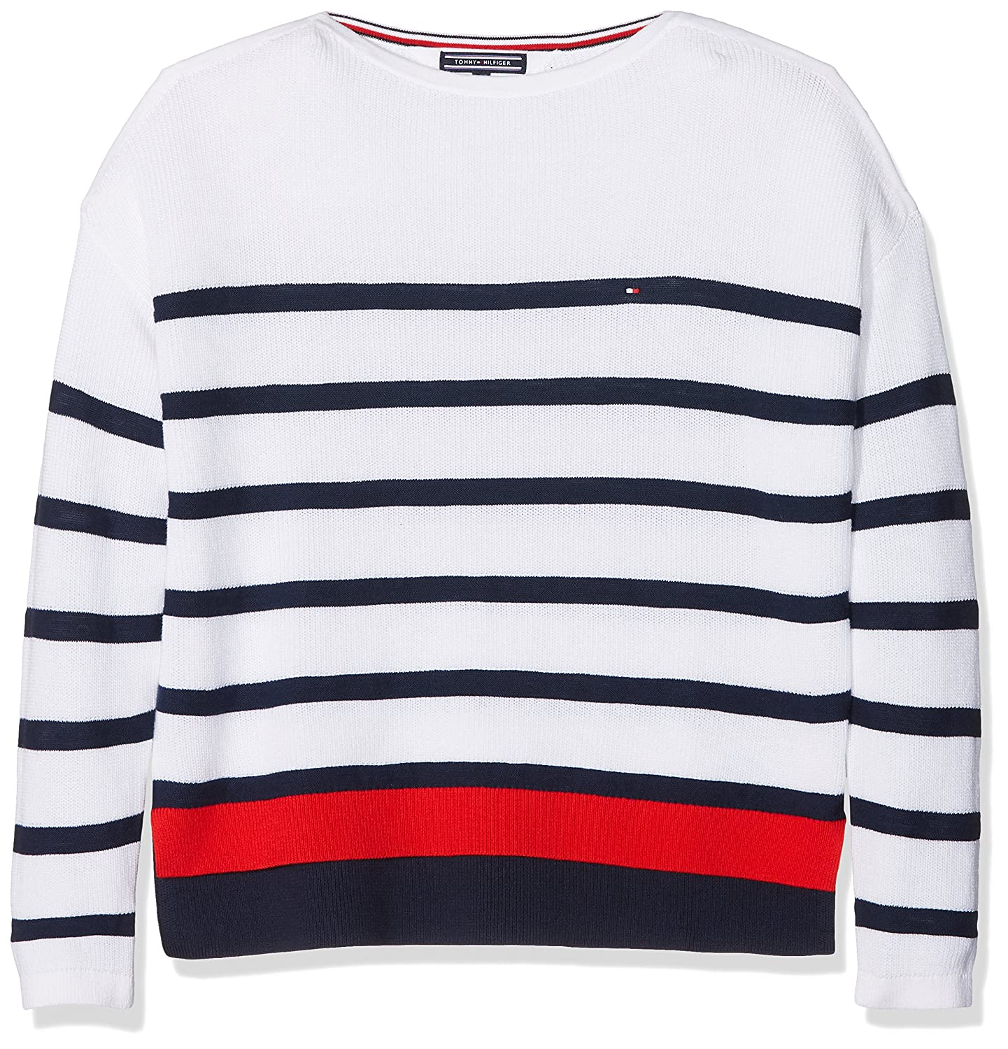 Tommy Hilfiger Girl's Delightful Stripe Bn Sweater Jumper KG0KG03442