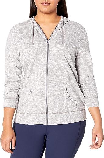 New  Just My Size 3X Light Weight Slub Cotton Zip Up Hoodie Jacket  Bright Teal