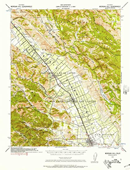 Hill Topographic Map.Amazon Com Yellowmaps Morgan Hill Ca Topo Map 1 62500 Scale 15 X