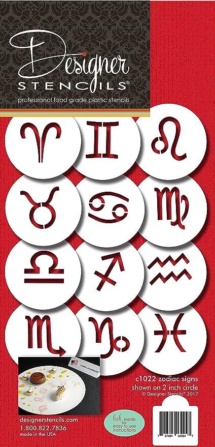 Amazon com: Astrological Zodiac Signs Cookie Stencil Set