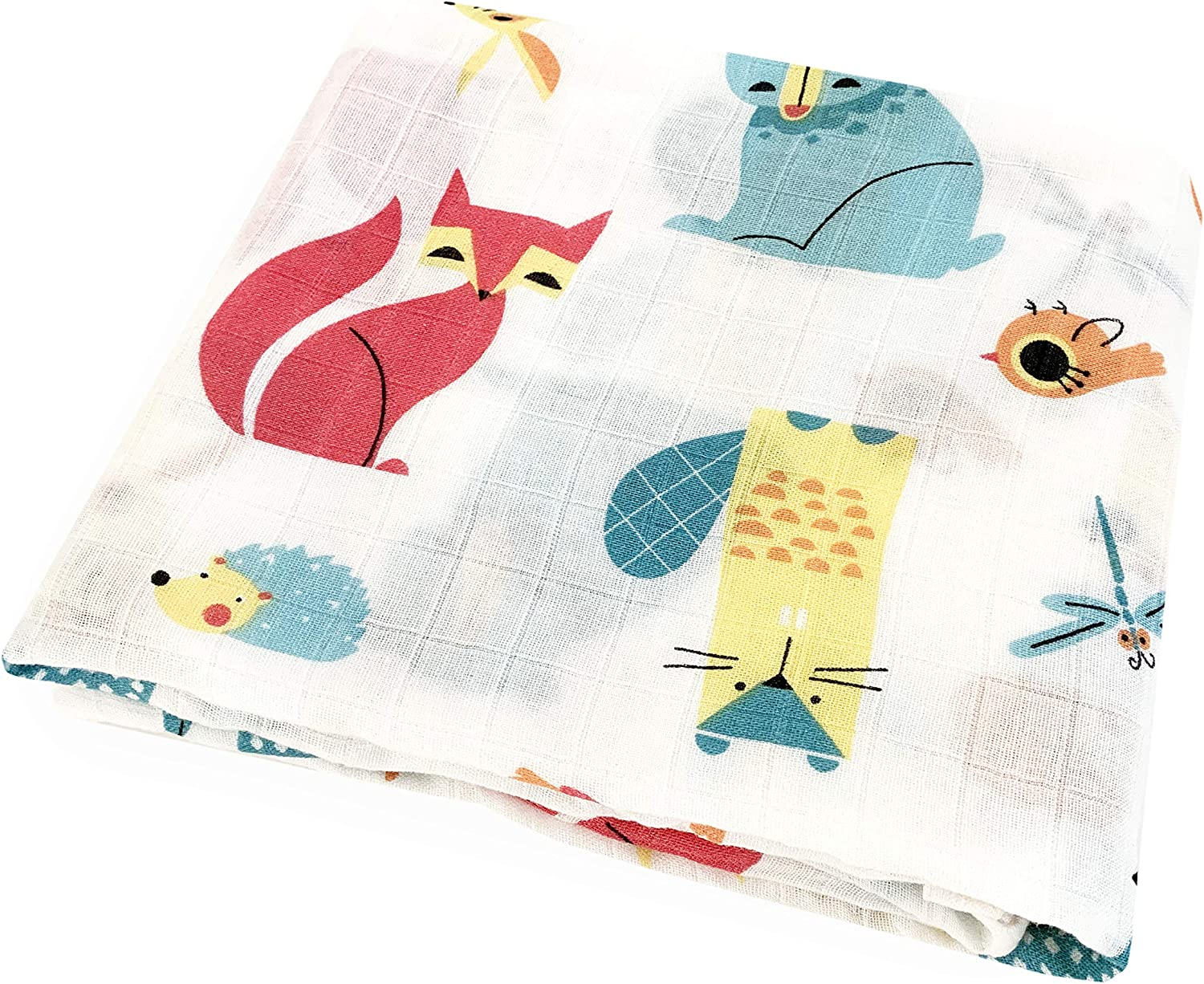 Bio Muslin Swaddle Blanket Large Muslin Burp Cloth Super Soft and Breathable Baby Wrap ORGANIC Cotton Eco-Friendly and Hypoallergenic Receiving Blanket Nursing Cover MiniSteps Muslin Blanket Baby Sho Bamboo Swaddle Blanket Baby Shower Gift