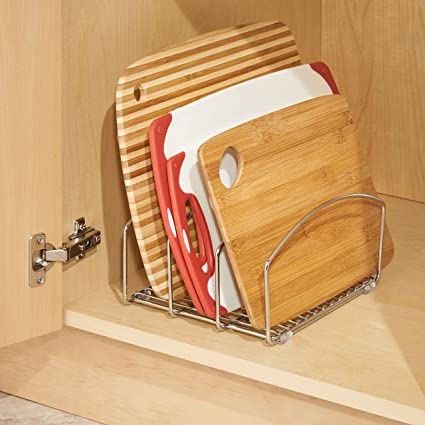 InterDesign Classico - Organizador de batería de Cocina, para Tablas de Corte y bandejas/