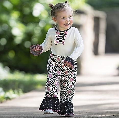 9aa0e930702 Amazon.com  AnnLoren Baby Girls Knit Floral Lattice and Polka Dot Romper   Clothing
