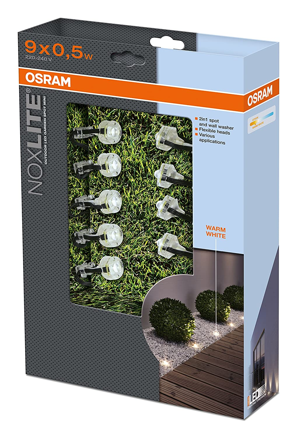 clairage de jardin osram led noxlite garden muni de 9 spots. Black Bedroom Furniture Sets. Home Design Ideas