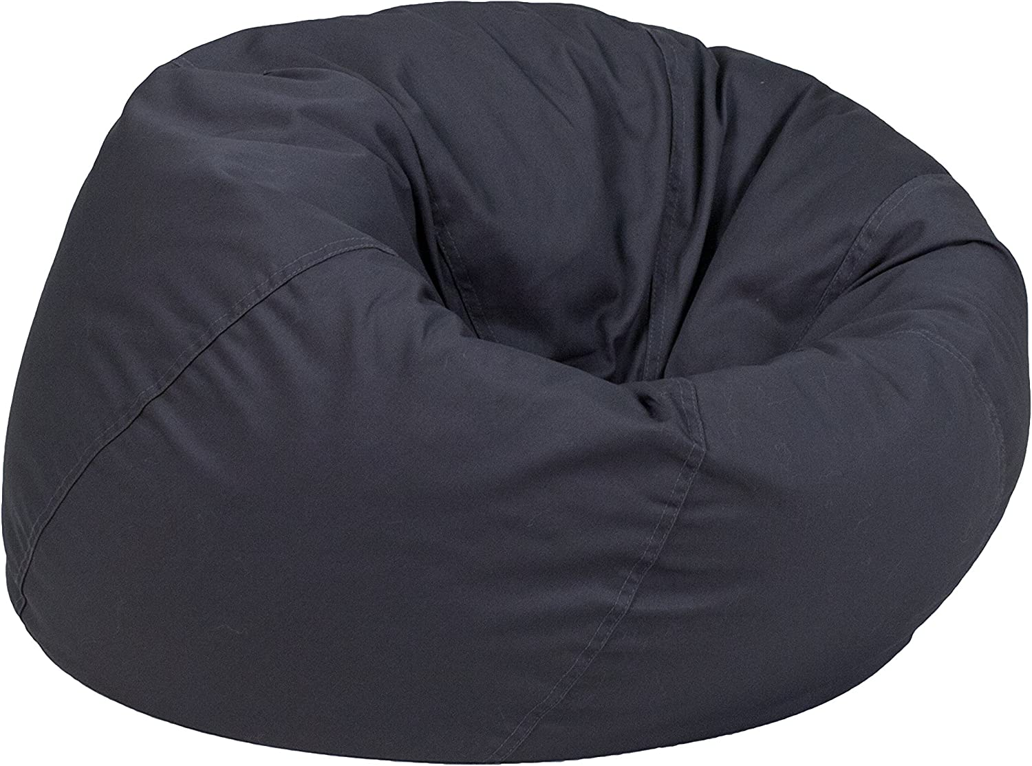 Flash Furniture Small Solid Gray Kids Bean Bag Chair