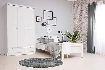 Moebel Dich Auf Stockholm Mädchenzimmer Jugendzimmer Schlafzimmer Komplett  Set Im Landhaus Stil In Weiß
