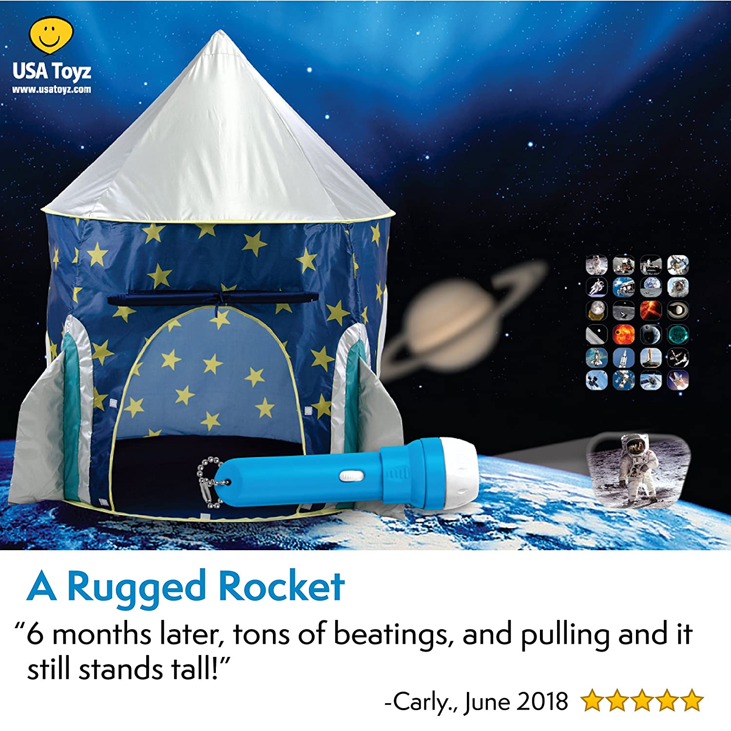 Kids Play Tent Rocket Ship