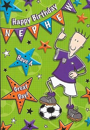 Happy Birthday Nephew Karte Fußball 229 X 152 Cm Bb8